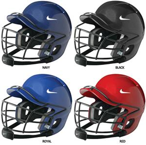 NIKE Show Batting Helmet With Cage And Chin Strap