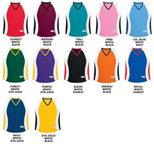 Womens Sleeveless 3 Tone Jerseys-CLOSEOUT