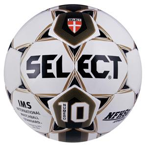 Select IMS/NFHS Numero 10 Soccer Ball Wt/Bk/Gold