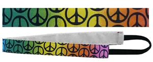 Red Lion Groovy Peace Sign Sport Fashion Headbands
