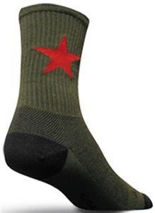 Sockguy Red Star Wool Socks