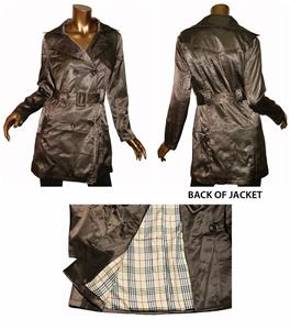 Day and Night Brown Trench Coat with Belted Waist