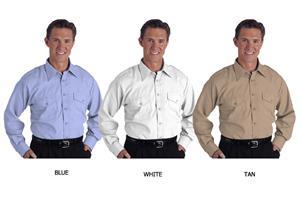 Edwards Mens Flyer Shirt Long Sleeve Poplin