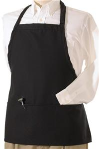 Edwards Bib Apron with Three Pockets