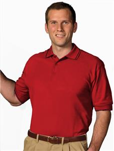 Edwards Mens Pique Polos w/Tipped Collar &amp; Sleeves
