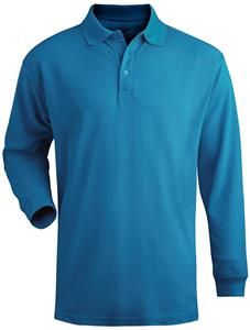 Edwards Mens Long Sleeve Blended Pique Polo
