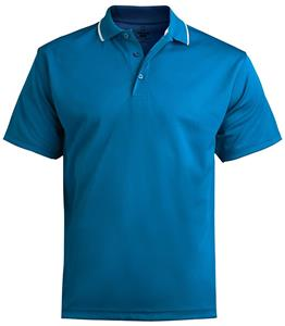 Edwards Mens Tipped Collar Dry-Mesh Polo Shirt
