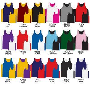Basketball Reversible Tricot Jersey w/side Panels