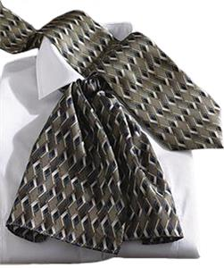 Edwards Womens Signature Double Diamond Silk Scarf