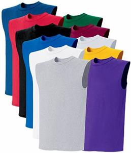 Jersey Knit Sleeveless T-Shirts Jerseys - Closeout