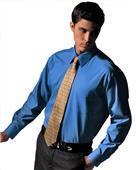 Edwards Mens Pinpoint Oxford Long Sleeve Shirt