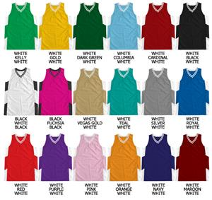 Basketball Pro Weight Textured Mesh V-Neck Jersey