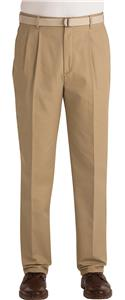 Edwards Mens Business Casual Pleated Front Pants