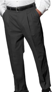 Edwards Mens Lightweight Pleated Poly/Wool Pants