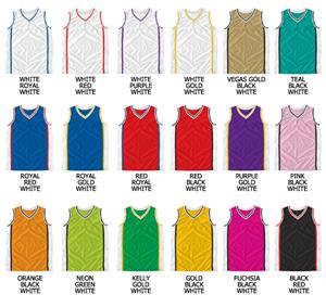 Basketball Dazzle Cloth V-Neck & Arm Trim Jerseys