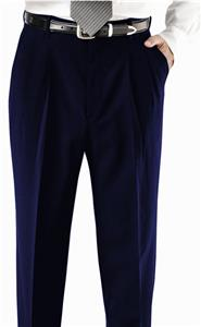 Edwards Mens Pleated Front Polyester Pants