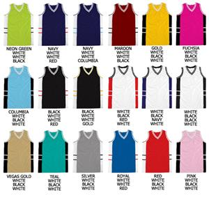 Basketball Dazzle Cloth Side Panel Piping Jerseys