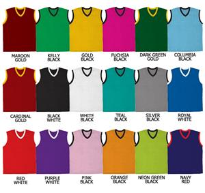 Basketball Pro Weight Textured Mesh V-Neck Jerseys