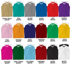 Basketball Dazzle Cloth Stripe Neck Trim Jerseys