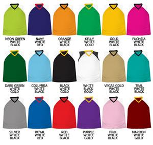 Basketball Dazzle Cloth Solid Neck Trim Jerseys
