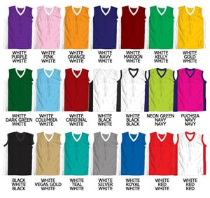 Basketball Contrasting Side Panel Mesh Jerseys