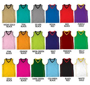Basketball Dazzle Cloth w/Piping on Sides Jerseys