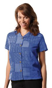 Edwards Womens South Sea Geometric Camp Shirts
