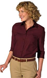 Edwards Womens 3/4 Sleeve Poplin Blouse
