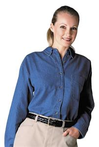 Edwards Women Heavy Weight Denim Long Sleeve Shirt