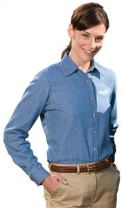 Edwards Womens Mid-Weight Denim Long Sleeve Shirt