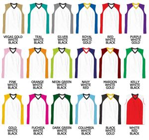 Basketball 2 Color Front Cool Mesh V-neck Jerseys