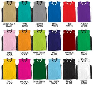 Basketball Dazzle Cloth Solid Neck Jerseys