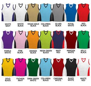 Basketball Mesh Triangle Side Panel Jerseys