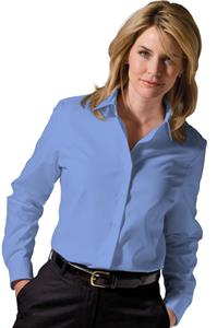 Edwards Women Soft Collar Poplin Long Sleeve Shirt
