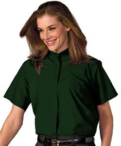 Edwards Womens Short Sleeve Banded Collar Shirt