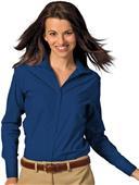 Edwards Womens Casual Poplin Long Sleeve Blouse