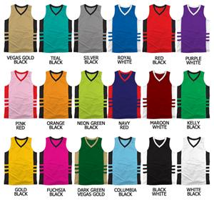 Basketball Dazzle Cloth w/Contrast Piping Jerseys