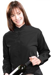 Edwards Womens Long Sleeve Banded Collar Shirt