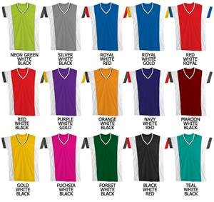 Basketball Cool Mesh 2 Color Cap Sleeve Jerseys