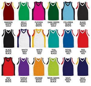 Basketball Dazzle Cloth Jersey w/Wave Side Panels