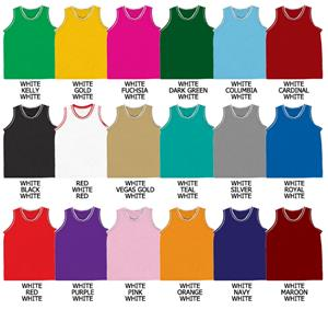 Basketball Pro Weight Textured Mesh Jersey w/Trim