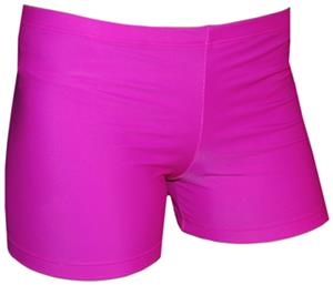 Spandex 6&quot; Sports Shorts - Bright Fuchsia Solid