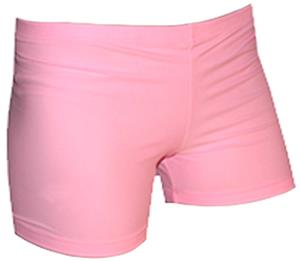 Spandex 6&quot; Sports Shorts - Pink Solid