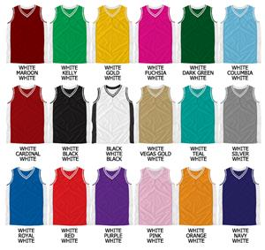Basketball Textured Mesh Vneck Jersey w/Side Panel