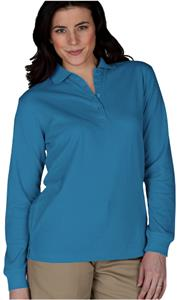 Edwards Womens Long Sleeve Blended Pique Polo