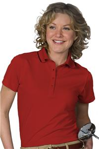 Edwards Womens Tipped Collar Dry-Mesh Polo Shirt