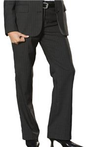Edwards Misses' & Womens Pinstripe Flat Front Pant
