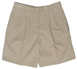 Edwards Misses&#39; &amp; Womens Pleated Front Chino Short