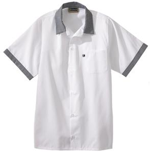 Edwards Unisex 5 Button Bistro Cook Shirt w/Trim