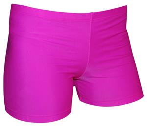 Spandex 4&quot; Sports Shorts - Bright Fuchsia Solid